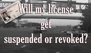 License suspended or revoked